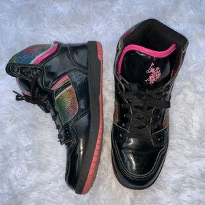 Vintage Polo High Top Sneakers Patent Leather